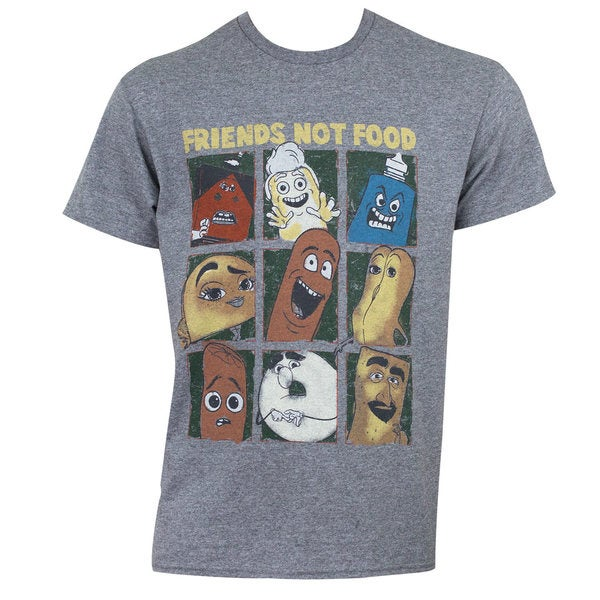 Sausage Party Friends Not Food Tee Shirt