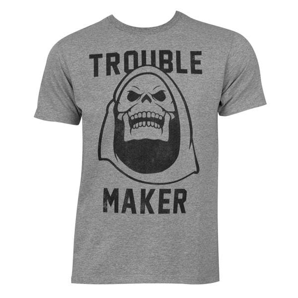 Masters of The Universe Men's Skeletor Grey Cotton/Polyester T-shirt