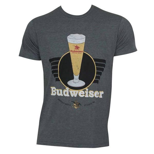 Budweiser Grey Cotton/Polyester Vintage T-shirt