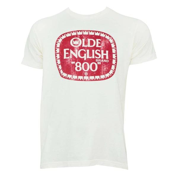 Olde English Men's White Cotton T-shirt