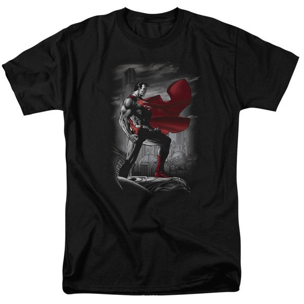 Superman/Metropolis Guardian Short Sleeve Adult T-Shirt 18/1 in Black