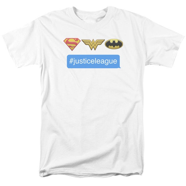 DC/Hashtag JLA Short Sleeve Adult T-Shirt 18/1 in White