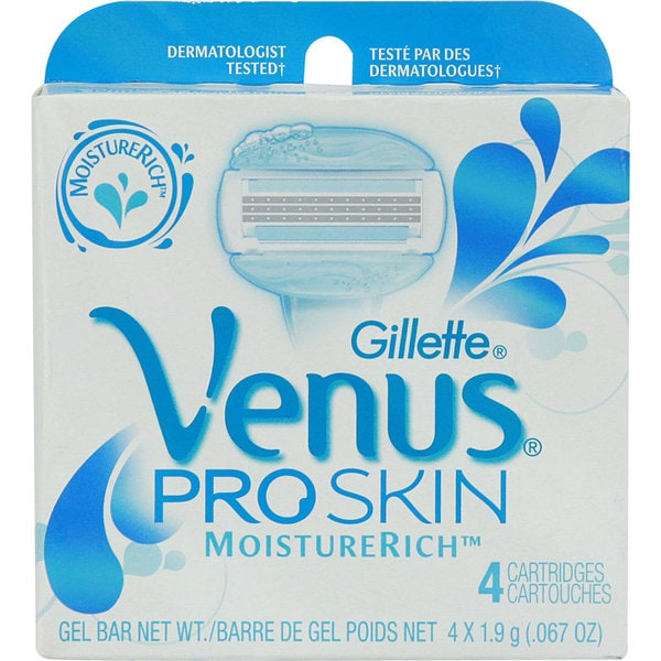 Gillette Venus ProSkin Refill Razor Blade Cartridges (Pack of 4)
