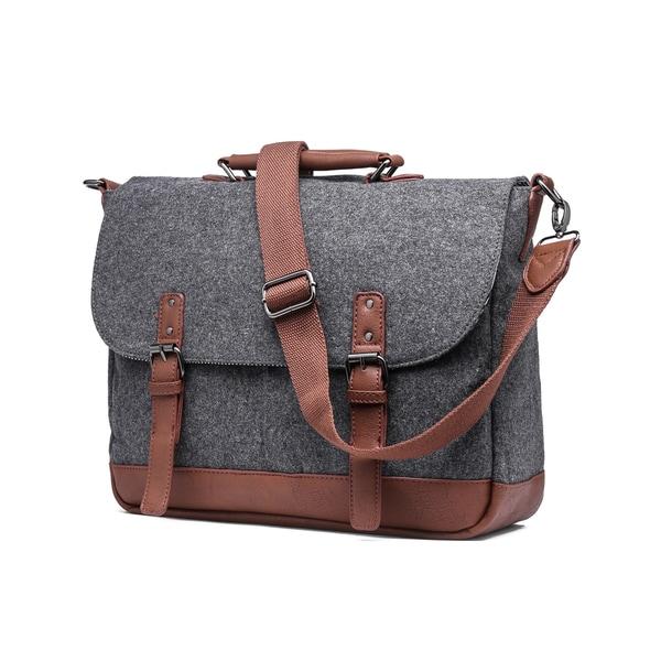Something Strong Wool Laptop/Tablet Messenger Bag