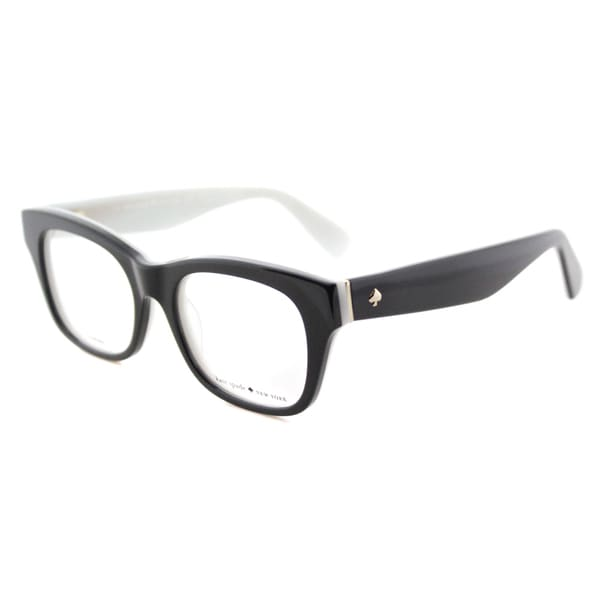 Kate Spade KS Jonnie QDP Black/White Plastic Square Eyeglasses