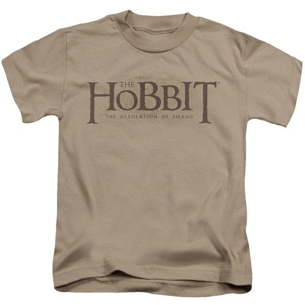 Hobbit/Textured Logo Short Sleeve Juvenile Graphic T-Shirt in Sand