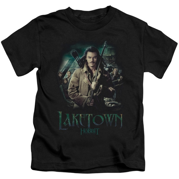 Hobbit/Protector Short Sleeve Juvenile Graphic T-Shirt in Black