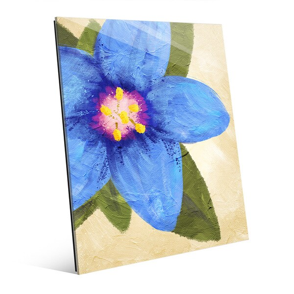 Blue Pimpernel' Bright Glass Wall Art