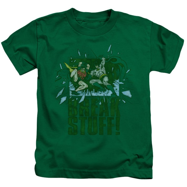 DC/Break Stuff Short Sleeve Juvenile Graphic T-Shirt in Kelly Green
