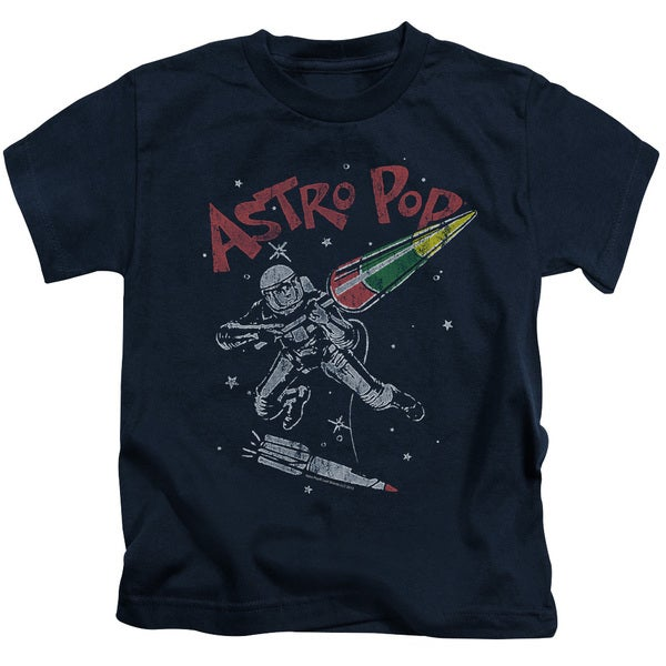 Astro Pop/Space Joust Short Sleeve Juvenile Graphic T-Shirt in Navy