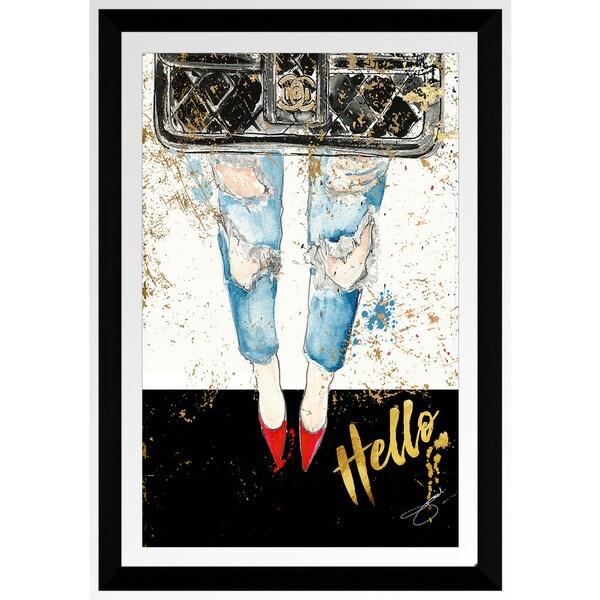 """BY Jodi """"Blind Date"""" Framed Plexiglass Wall Art"""