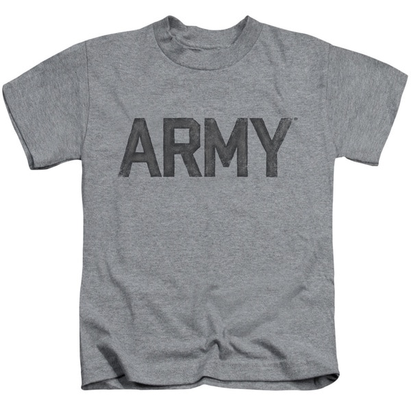 Army/Star Short Sleeve Juvenile Graphic T-Shirt in Athletic Heather