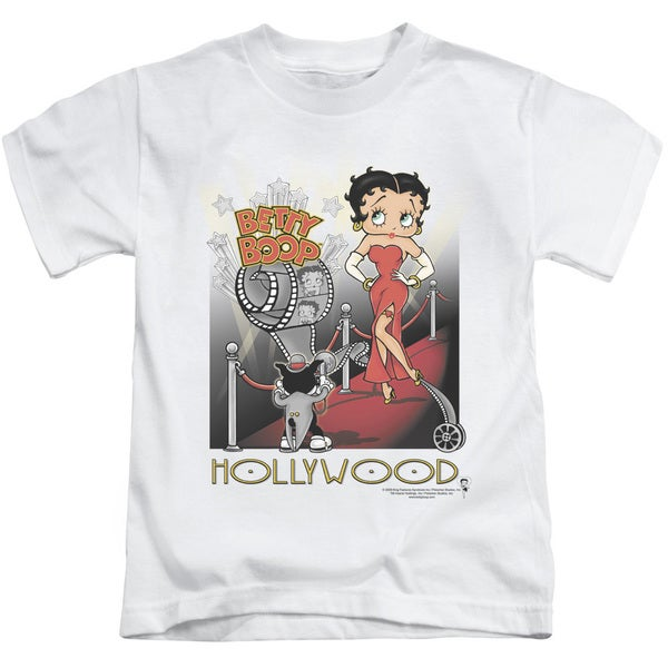 Boop/Hollywood Short Sleeve Juvenile Graphic T-Shirt in White