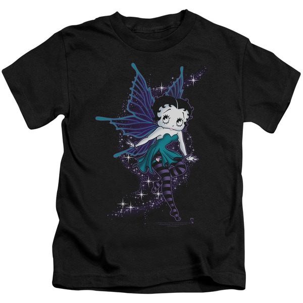 Boop/Sparkle Fairy Short Sleeve Juvenile Graphic T-Shirt in Black