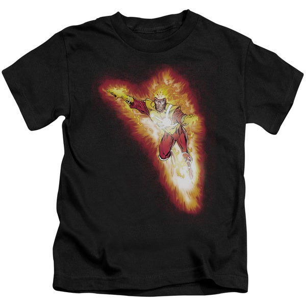 JLA/Firestorm Blaze Short Sleeve Juvenile Graphic T-Shirt in Black