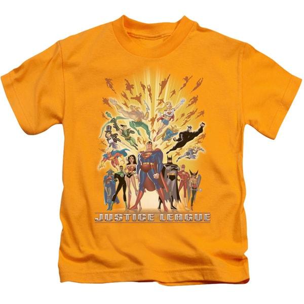 JLA/United Short Sleeve Juvenile Graphic T-Shirt in Gold