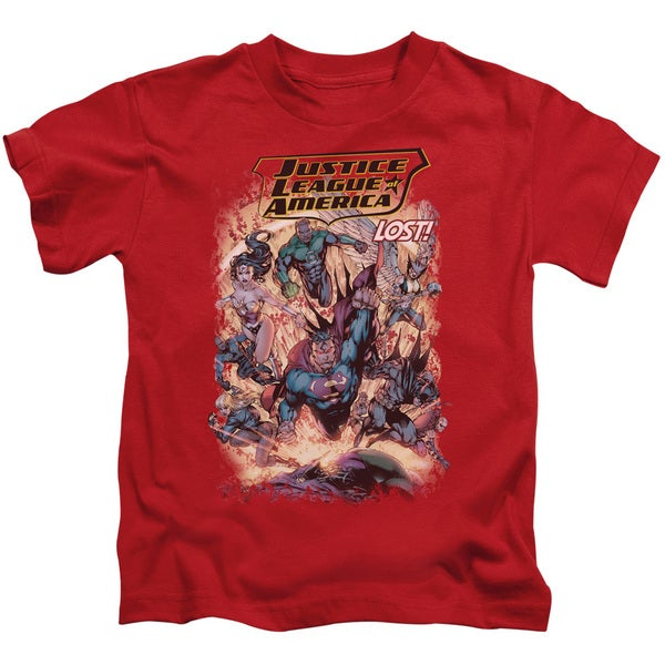 JLA/Lost Short Sleeve Juvenile Graphic T-Shirt in Red
