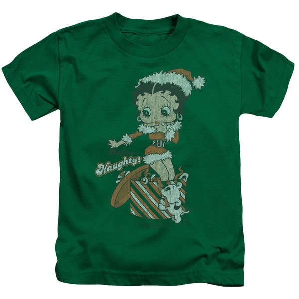Boop/Define Naughty Short Sleeve Juvenile Graphic T-Shirt in Kelly Green