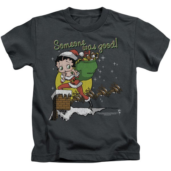 Boop/Chimney Short Sleeve Juvenile Graphic T-Shirt in Charcoal