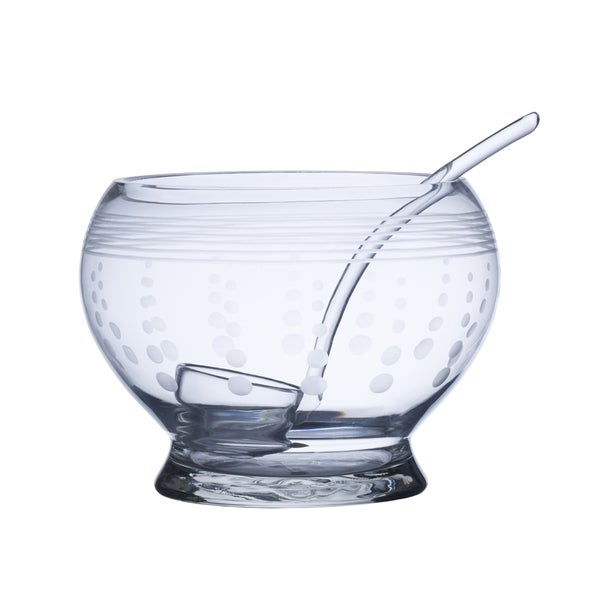 Mikasa Cheers Clear Glass Punch Bowl with Ladle