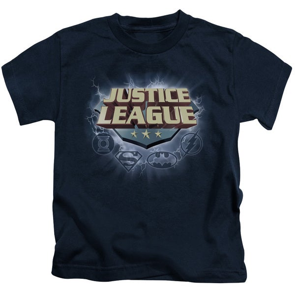 JLA/Storm Logo Short Sleeve Juvenile Graphic T-Shirt in Navy