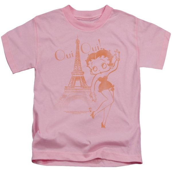 Boop/Oui Oui Short Sleeve Juvenile Graphic T-Shirt in Pink