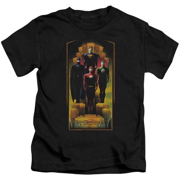 JLA/Deco Short Sleeve Juvenile Graphic T-Shirt in Black