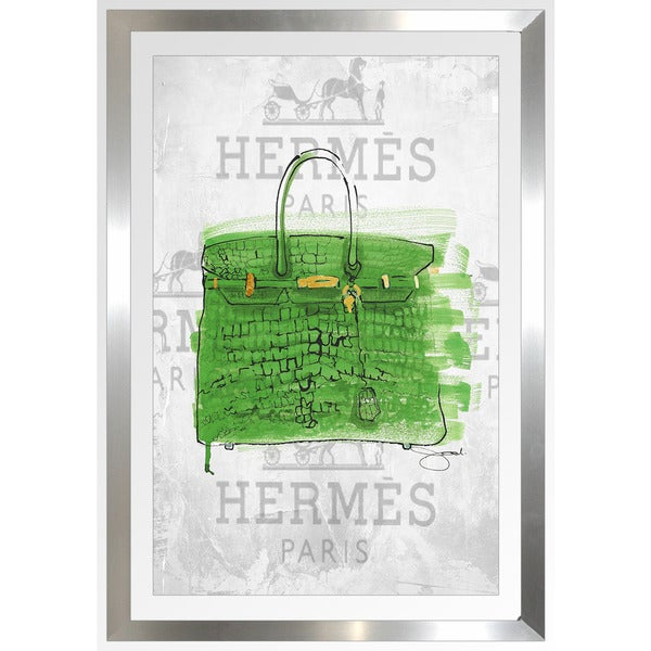 "BY Jodi ""The Color Of Money"" Framed Plexiglass Wall Art"
