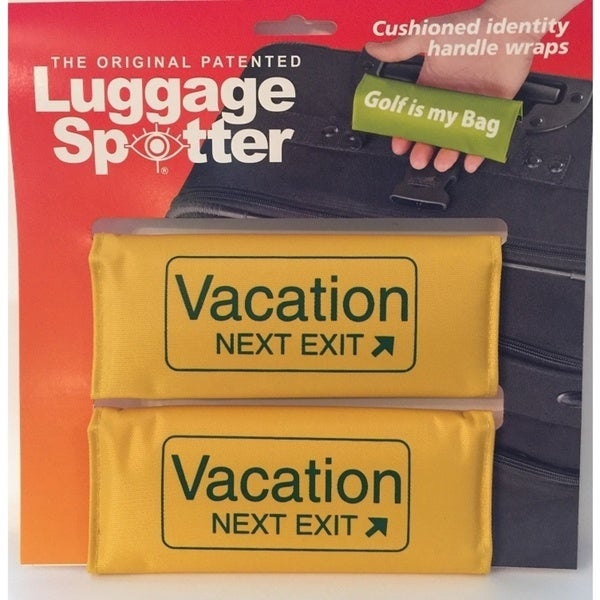 The Original Patented 'Vacation Exit' Bright Yellow Polyester Luggage Spotter