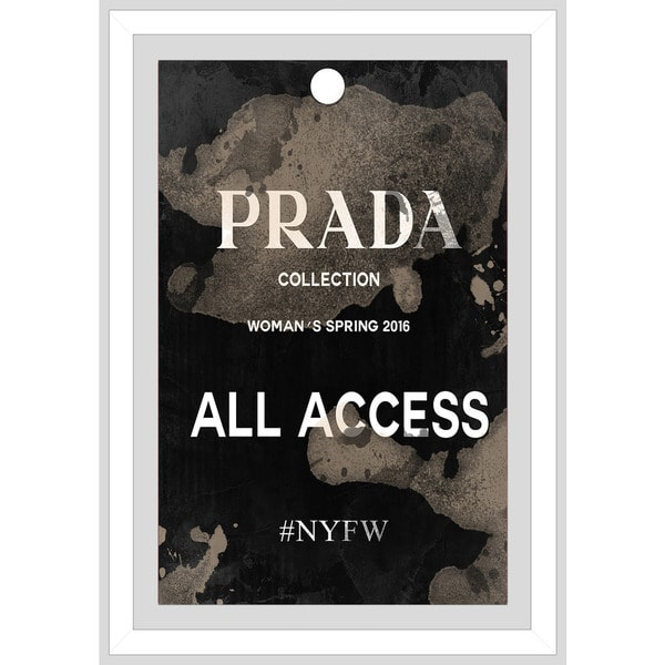 "BY Jodi ""Prada Pass"" Framed Plexiglass Wall Art"