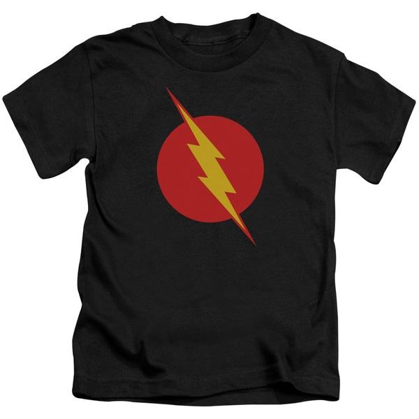 JLA/Reverse Flash Short Sleeve Juvenile Graphic T-Shirt in Black