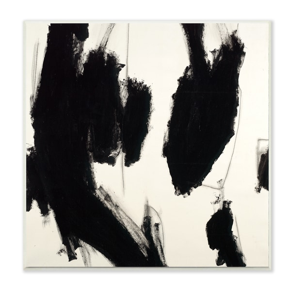 Black and White Patches Wall Plaque Art