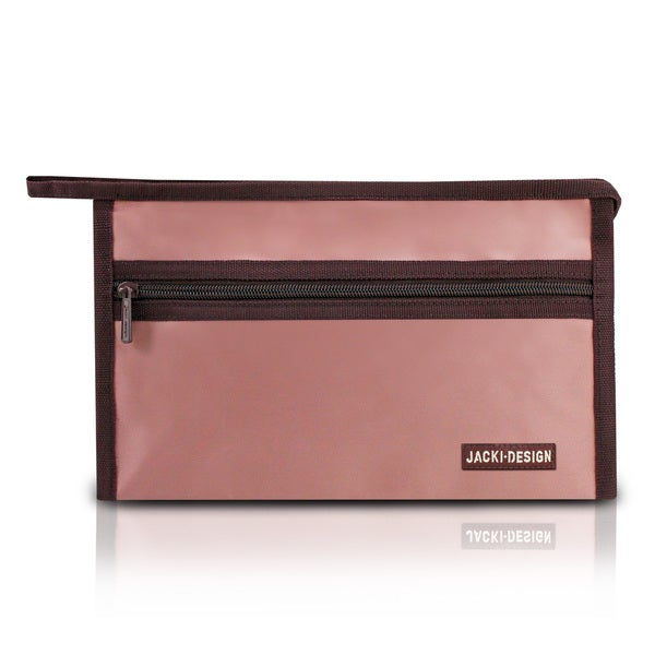 Jacki Design Essential III Polyester/Faux Leather Cosmetic Bag
