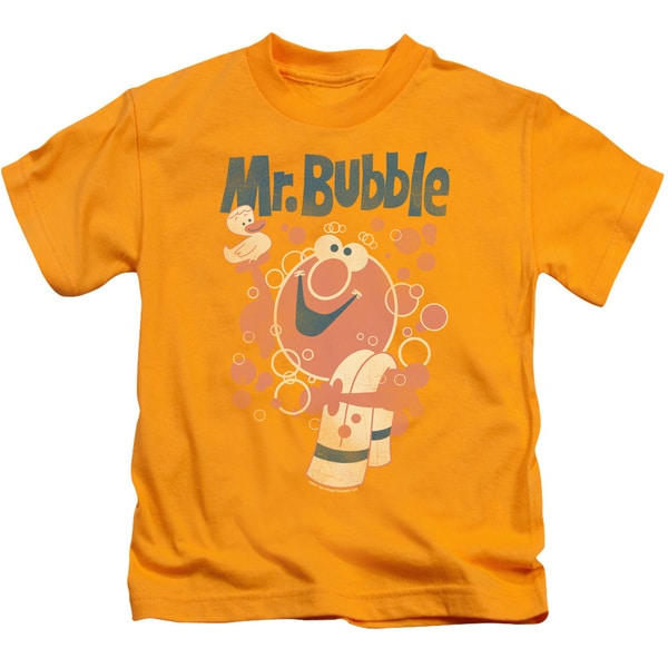 Mr Bubble/Towel and Duckie Short Sleeve Juvenile Graphic T-Shirt in Gold