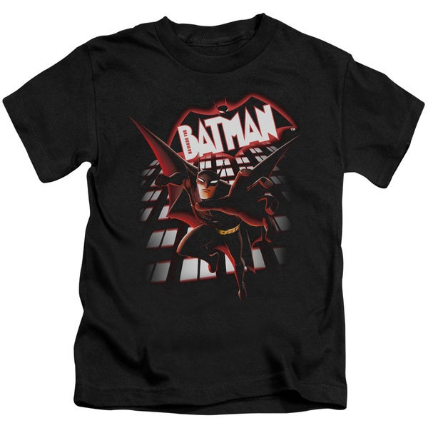 Beware The Batman/From The Top Short Sleeve Juvenile Graphic T-Shirt in Black