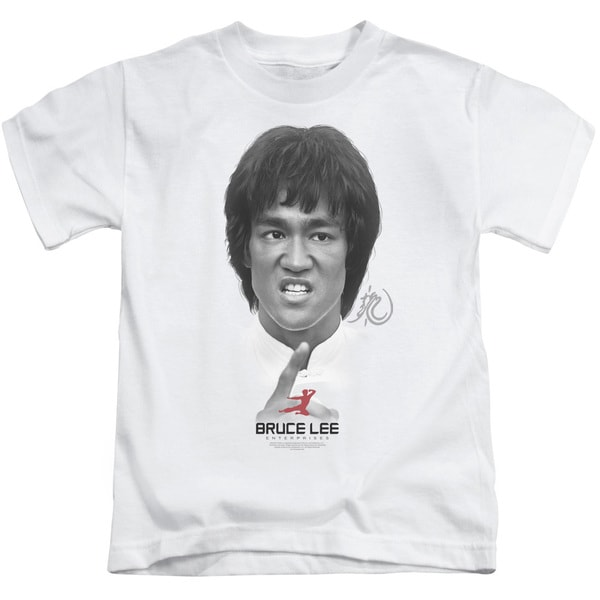 Bruce Lee/Self Help Short Sleeve Juvenile Graphic T-Shirt in White