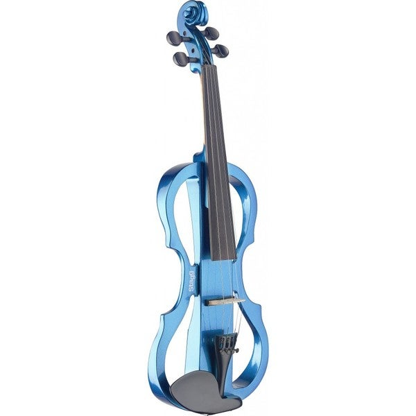 Stagg EVN X-4/4 MBL Metallic Blue Silent Violin Set With Soft Case and Headphones