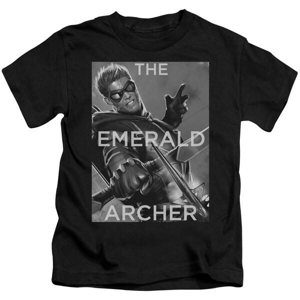 JLA/Trigger Short Sleeve Juvenile Graphic T-Shirt in Black