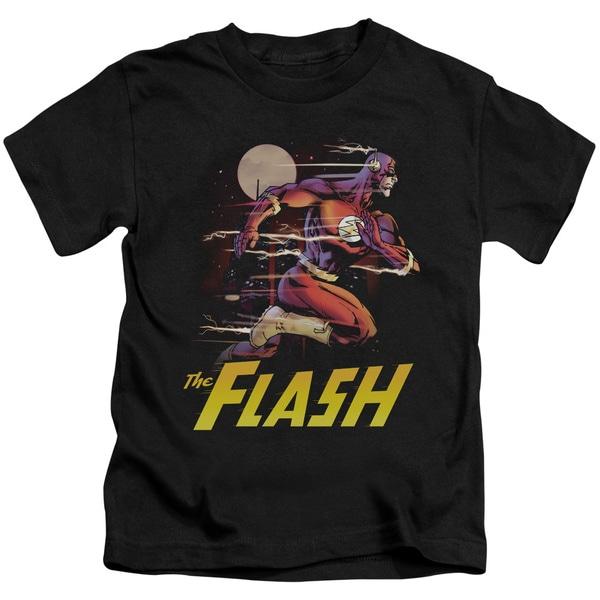 JLA/City Run Short Sleeve Juvenile Graphic T-Shirt in Black
