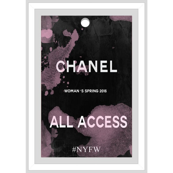 "BY Jodi ""Chanel Pass"" Framed Plexiglass Wall Art"