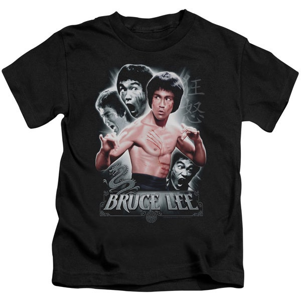Bruce Lee/Inner Fury Short Sleeve Juvenile Graphic T-Shirt in Black
