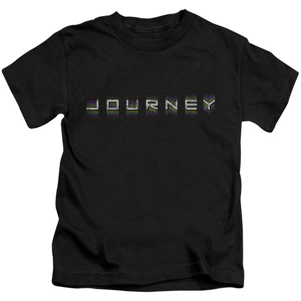 Journey/Repeat Logo Short Sleeve Juvenile Graphic T-Shirt in Black