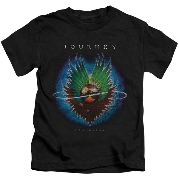 Journey/Evolution Short Sleeve Juvenile Graphic T-Shirt in Black