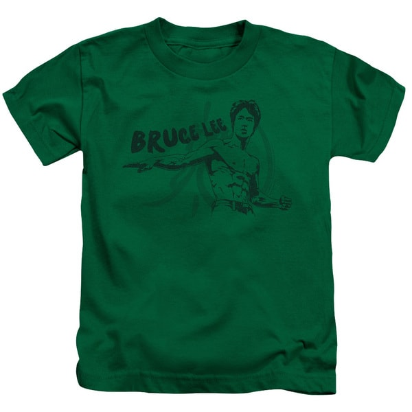 Bruce Lee/Brush Lee Short Sleeve Juvenile Graphic T-Shirt in Kelly Green