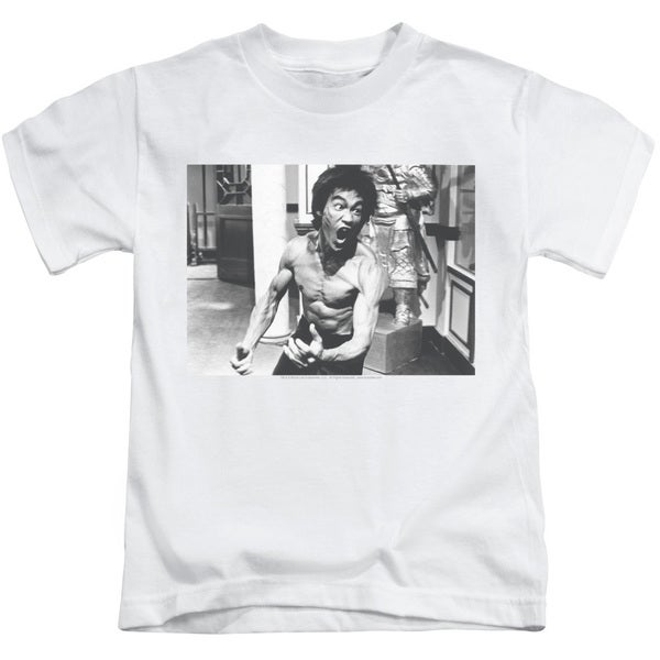 Bruce Lee/Full Of Fury Short Sleeve Juvenile Graphic T-Shirt in White