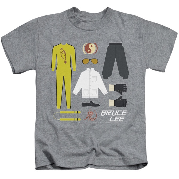 Bruce Lee/Lee Gift Set Short Sleeve Juvenile Graphic T-Shirt in Athletic Heather