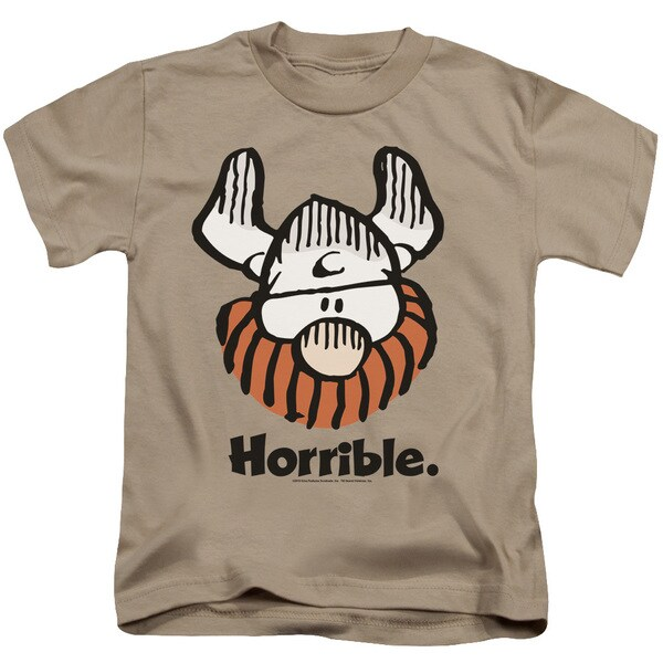 Hagar The Horrible/Horrible Short Sleeve Juvenile Graphic T-Shirt in Sand
