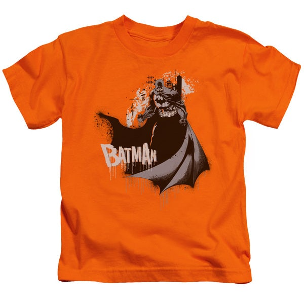 Batman/The Drip Knight Short Sleeve Juvenile Graphic T-Shirt in Orange