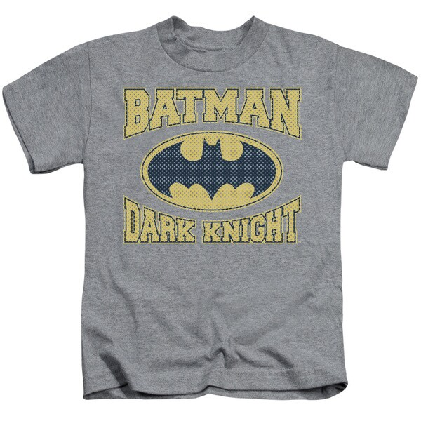 Batman/Dark Knight Jersey Short Sleeve Juvenile Graphic T-Shirt in Heather