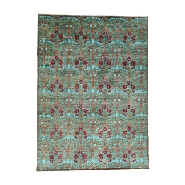 Arts And Crafts Oriental Wool Hand-spun Hand-Knotted Rug (10'2x14'2)